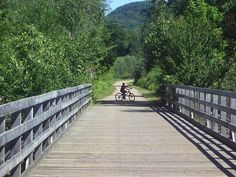 """Cycle the Laurentians on the """"P'tit train du Nord"""" trail Bike Trails, Biking, Lets Do It, Train, Travel Bugs, Montreal, Touring, Kayaking, To Go"""