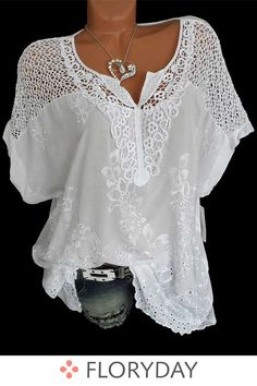 Where to buy lace blouse? NewChic offer quality lace blouse at wholesale prices. Shop cool personalized lace blouse with unbelievable discounts. Loose Shirts, Plus Size Blouses, Types Of Sleeves, Short Sleeves, Long Sleeve, Batwing Sleeve, White Short Sleeve Blouse, Puff Sleeves, Latest Fashion Trends