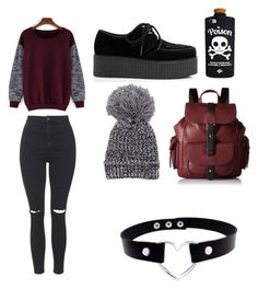 """""""Lazy day"""" by theratchetdragon on Polyvore featuring Topshop, Kenneth Cole Reaction and Valfré"""
