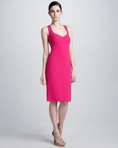LOVE: Stretch Crepe Dress by Michael Kors at Last Call by Neiman Marcus.