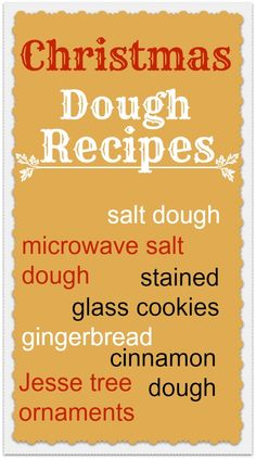 Great Christmas recipes - salt dough, cinnamon dough, gingerbread... Love the cookie and decoration ideas too.