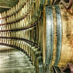 A common beautiful look at Rioja: Aging wine in barrels #winelover