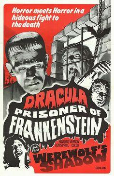 DRACULA PRISONER OF FRANKENSTEIN original movie poster HOWARD VERNON/JESS FRANCO:
