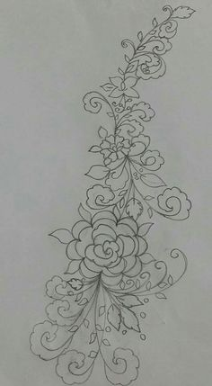 Floral Embroidery Patterns, Cutwork Embroidery, Hand Embroidery Designs, Applique Designs, Quilting Designs, Painting Patterns, Fabric Painting, Diy Broderie, Bridal Mehndi Designs