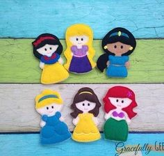 Gracefully Geeky Princess finger puppets