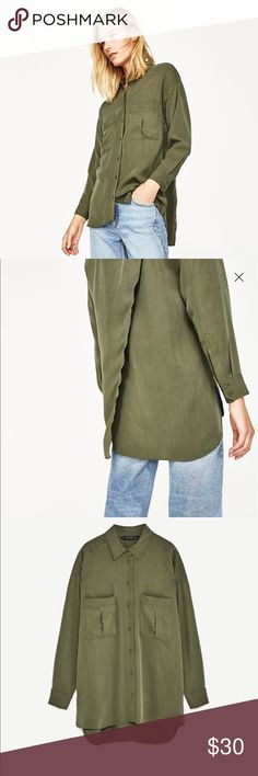 ZARA Join Life Military Style Shirt ZARA Join Life Military Style Shirt, NEW Zara Tops Button Down Shirts