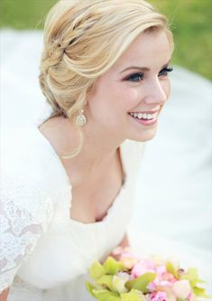 wedding hairstyle with braid (photo by julie parker photography, hair by hair and makeup by steph)