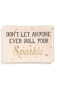 NATURAL LIFE 'Dull Your Sparkle' Glass Tray available at #Nordstrom