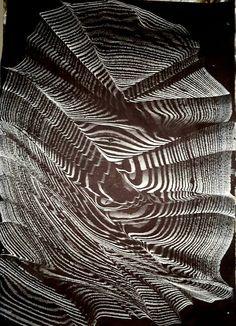 Marbled paper by Necmiye Albayrak. Turkish Art, Marble Art, Glitch Art, Organic Matter, Black And White Abstract, Paper Decorations, Ancient Art, Paper Art, Book Art