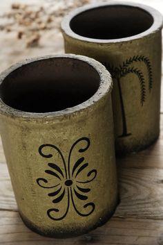 Set of two / Brimfield Pots $12 set