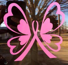 Breast cancer awareness butterfly car decal by MrsChicBoutique, $4.99