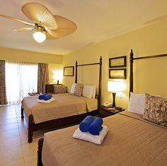 Deluxe room at Ocean Blue & Sand resort in Punta Cana, Dominican Republic.