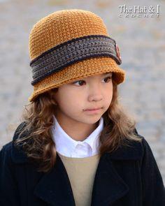 CROCHET PATTERN Uptown Girl cloche hat pattern por TheHatandI