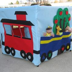 Free Playhouse Patterns | Train Station Card Table Playhouse Pattern Add by missprettypretty, $ ...