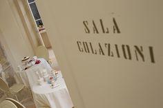 The entrance of the breakfast room @Palazzonovello