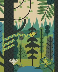 A background for the TwoDots Beetles Expedition #illustration #twodots #dots #playdots #app #beetles #snake #frog #nature @trees #art #plants