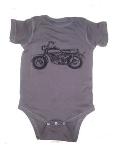 Baby Motorcycle Onesie Bodysuit 20 Colors by FreeBirdCloth on Etsy cb5dc617ecc