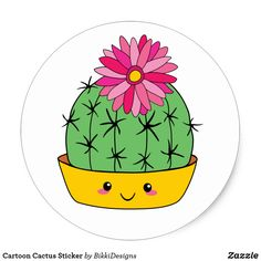Shop Smiley Face Kawaii Cartoon Cactus Sticker created by BikkiDesigns. Cactus Drawing, Cactus Painting, Fabric Painting, Cute Easy Drawings, Cute Kawaii Drawings, Cactus Decor, Cactus Art, Cactus Plants, Cute Smiley Face