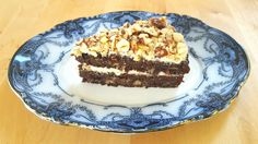 This marrow praline cake is a delightfully moist chocolatey cake that's dotted throughout with crunchy pieces of hazelnut and sandwiched and topped with a maple syrup-infused hazelnut buttercream. It's a delight to serve, a pleasure to eat and most certainly elevates the Vegetable of the Year status of the plain old marrow.