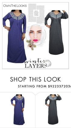 """WARM MAXI NIGHT DRESS"" by lavanyas-trendzs ❤ liked on Polyvore"