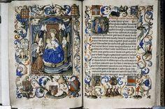 Getijdenboek van Yolande van Lalaing (Oxford, Bodleian Library, Douce 93, fol. 084v-085r), via Wikimedia