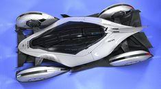 Concept electric race car design
