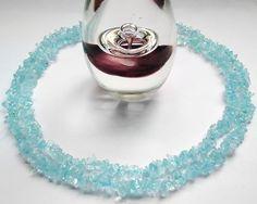 Aquamarine blue chip vintage necklace by BebeatParkleigh on Etsy