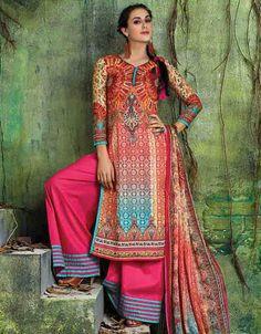 USD 45.08 Multicolor Cotton Palazzo Style Suit 54581