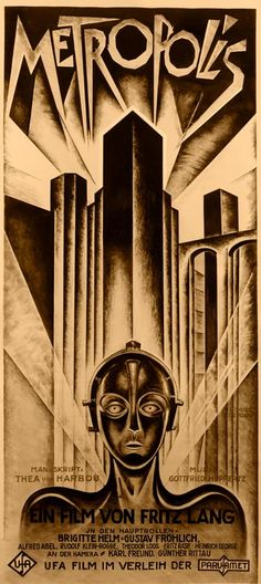 Fritz Lang Metropolis Movie Poster
