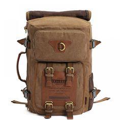 Men s Vintage Canvas Backpack 09fa56164e1ea