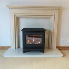 Medium Marlbourgh gas stove in customers existing surround.
