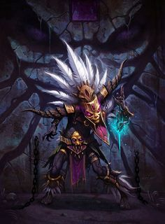 witch doctor diablo 3 art - Google Search Fantasy Witch, Arte Tribal, Tribal Art, Fantasy Artwork, Fantasy Character Design, Character Art, Male Witch, Witch Doctor, Doctor Mask