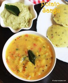 Potato Sagu - all wonderful things in one bowl to add extra happiness in every bite of rava idli or chapati.