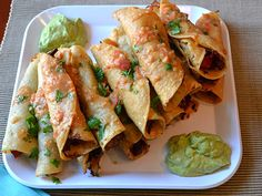 Guy Fieri Recipe | Chicken Taquitos (Veg)
