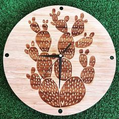 So excited for one of our new ranges specially made for #kamers2016 This bamboo range is inspired by cacti #sneakpeak #kamersvol #kamersvolgeskenke #cacti #bamboo #clock #kamersincub8 #cactus #time #wallclock #grass #green #lasercut #engraving #succulent #instagood #makers #makersgonnamake #show #preview #new #wood #homedecor #hallojane