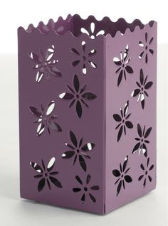 Purple Metal Laser Cut Candle Holder #pinforpoints