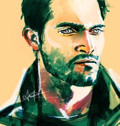 """Derek from Teen Wolf by Alice X. Zhang """"Derek has only one expression ... the hot angry stare!"""""""