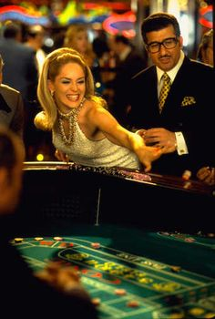 Sharon Stone throwing the Dice in the Movie Casino
