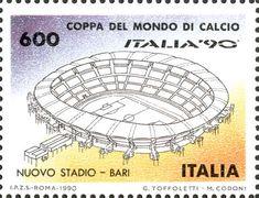 """1990 - Coppa del Mondo di Calcio """"ITALIA '90"""" - Nuovo stadio di Bari"""