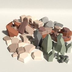 Low Poly Rock Pack