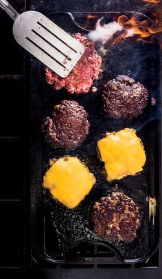 Ground chuck is our top choice for these classic, diner-style smash burgers.