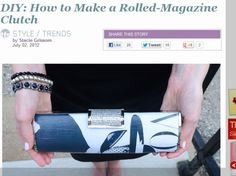 DIY: How to Make a Rolled-Magazine Clutch Purse