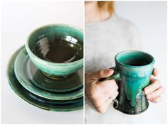 Just 2 examples of the amazing work of Hollowed Earth Pottery (@hollowedearth). Adding some turquoise to your kitchen is always a great idea!