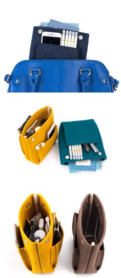 I like to keep my purses and bag clean, and to keep it organized, I always use the Mini Felt Purse Organizer! This organizer is made to help prevent the bags from getting messy by keeping everything together. Many pockets provide places for all your item, and you can always easily find what you are looking for!