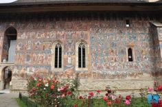The superb color and exterior paintings of Moldovita Monastery