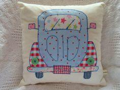 VW Beetle Patchwork Cushion Craft Kit! Cath Kidston Fabrics! Retro New!!