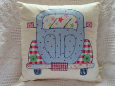 VW Beetle Patchwork Cushion Craft Kit! Cath Kidston Fabrics! Retro New!!