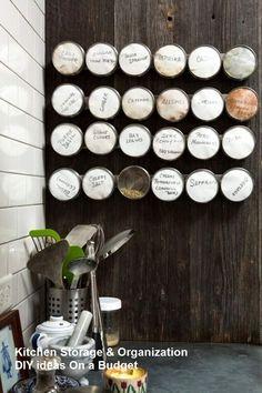 10 Modest Kitchen area Organization And DIY Storage Ideas #diykitchen