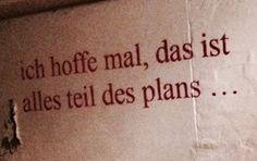 Ich hoffe...
