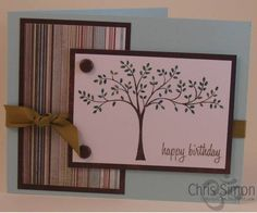 Masculine tree card